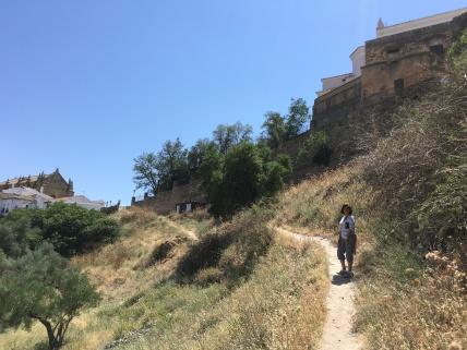 Trail to Arab Baths outside the walls.