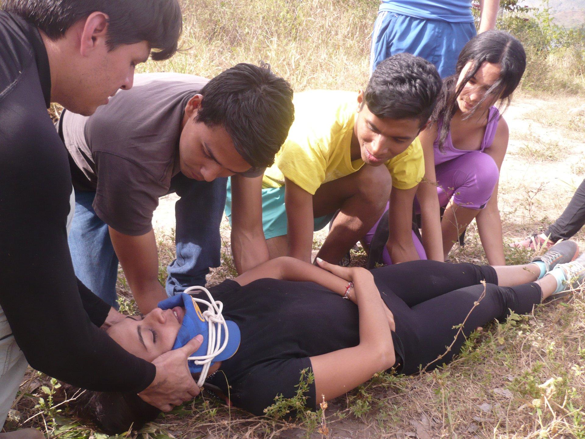 Transportation of Injured People in Outdoors Survival Campout | Monagas, Venezuela | Prof. Juan F. Peraza Marsiglia