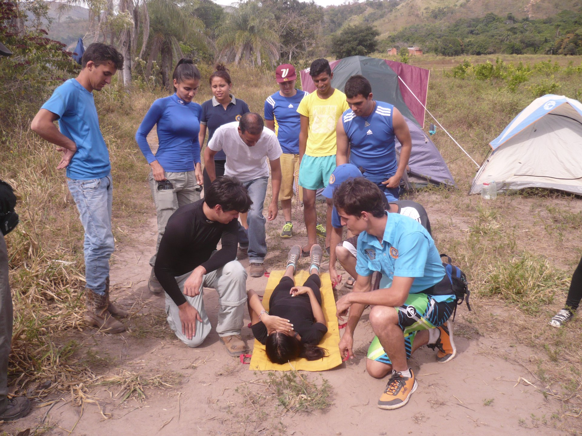 Transportation of Injured People in Outdoors Survival Campout | Monagas, Venezuela | Prof. Juan F. Peraza Marsiglia