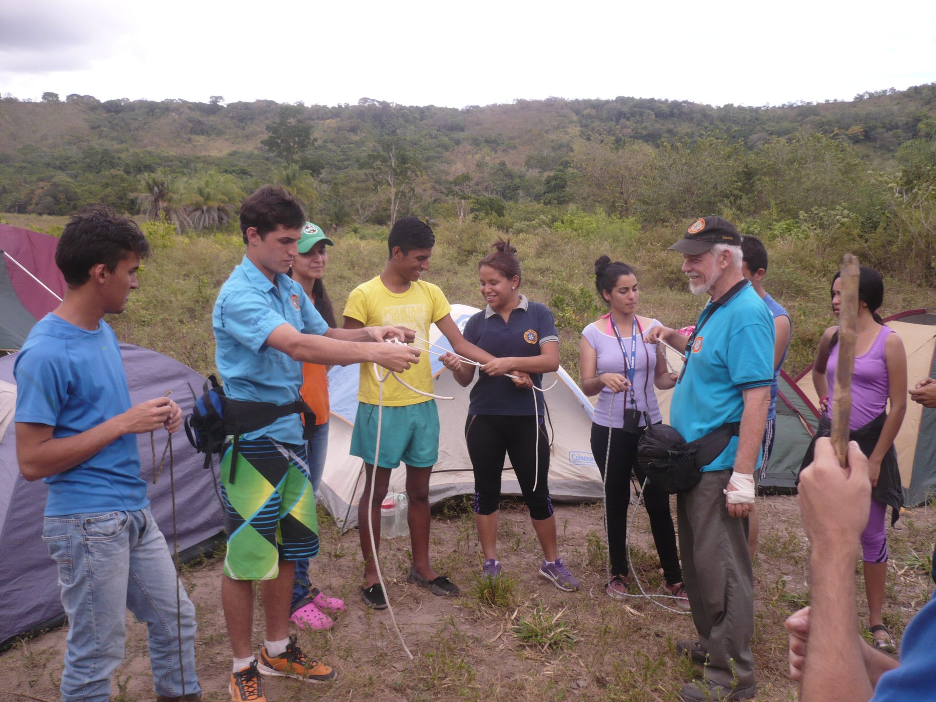 Knots Training in Outdoors Survival Campout | Monagas, Venezuela | Prof. Juan F. Peraza Marsiglia
