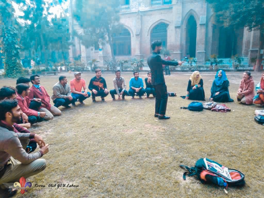 Scout Games, Survival Knots, and Lashing Activities | Rovers' Club GCU Lahore, Pakistan